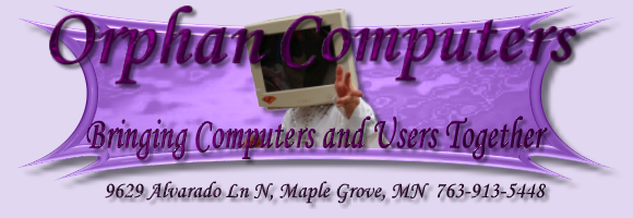 Computer, laptop, desktop repair, Minneapolis, Orphan Computers